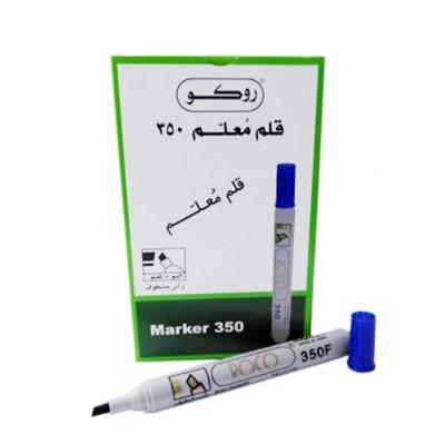 قلم ماركر روكو ثابت ،3 مم - 1.5 ،رأس مشطوف العلبة 12 حبة ،أزرق