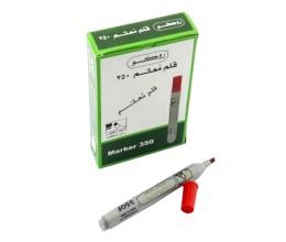 قلم ماركر روكو ثابت ،3 مم - 1.5 ،رأس مشطوف العلبة 12 حبة ،أحمر