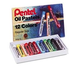 مجموعة ألوان باستيل زيتية بنتل (12 لون)
