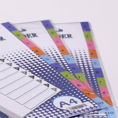 فواصل لينو ورقية ملونة 10 فواصل