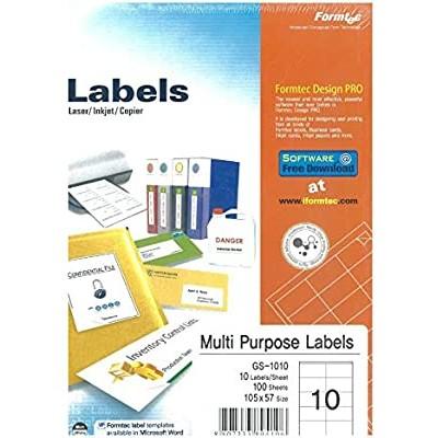 ورق لاصق - formatec-  labels 10