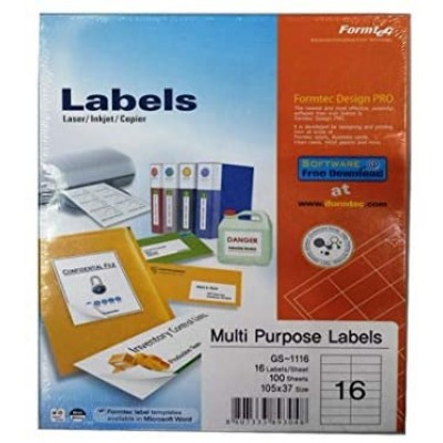 ورق لاصق - formatec-  labels 16