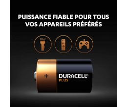 Duracell Plus, lot de 4 piles alcalines type D 1,5 Volts, LR20 MN1300‏ 4.5 (107,115)