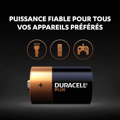 Duracell Plus, lot de 4 piles alcalines type D 1,5 Volts, LR20 MN1300 4.5 (107,115)