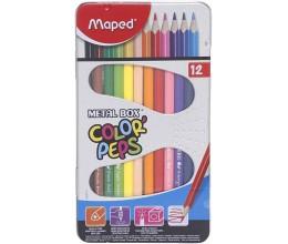 علبة أقلام رصاص ملونة مابد - حزمة من 12 قطعة (ألوان متعددة)