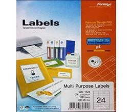 ورق لاصق A4 - formatec 24 labels/sheet - 100 sheets